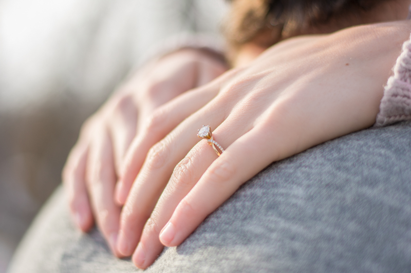 engagement ring 1 - Alyssa and Luke - Fargo Engagement Photography