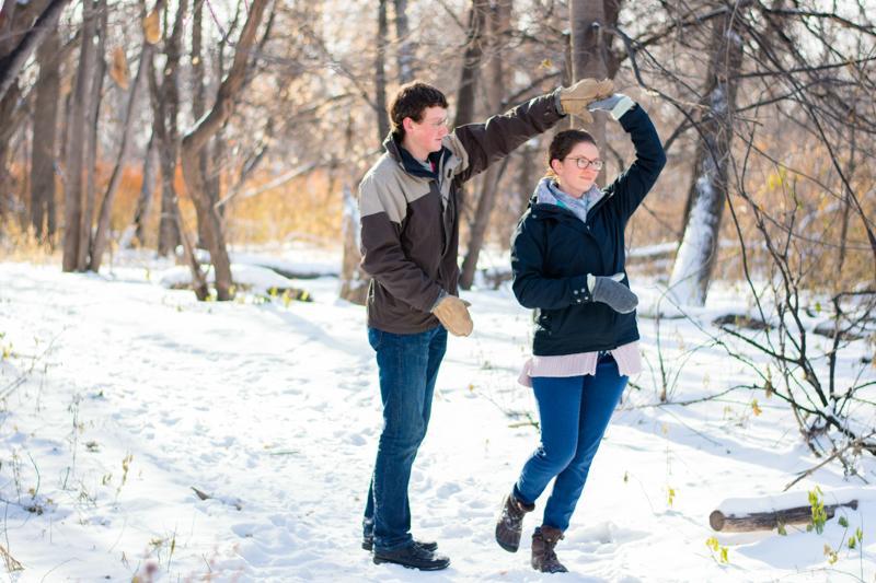 winter engagement 1 - Alyssa and Luke - Fargo Engagement Photography