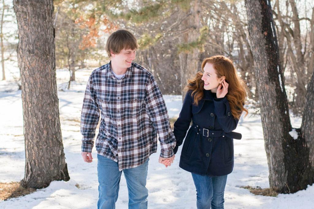 winter engagement 1024x683 - Emily and Dez - Fargo Engagement