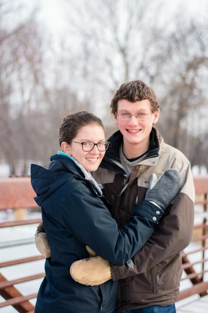 winter engagement photography 1 - Alyssa and Luke - Fargo Engagement Photography